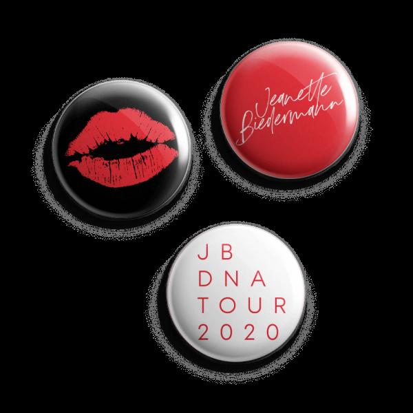 Jeanette Biedermann - DNA Buttonset (3er Set)