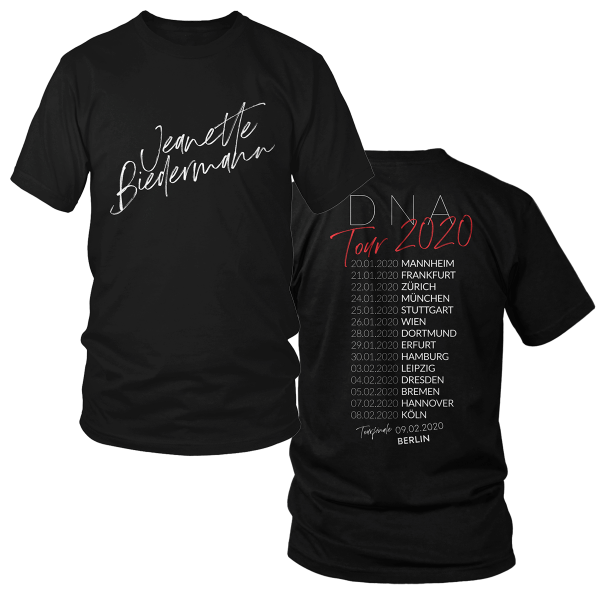 Jeanette Biedermann - DNA Tour 2020 Tourshirt (schwarz)