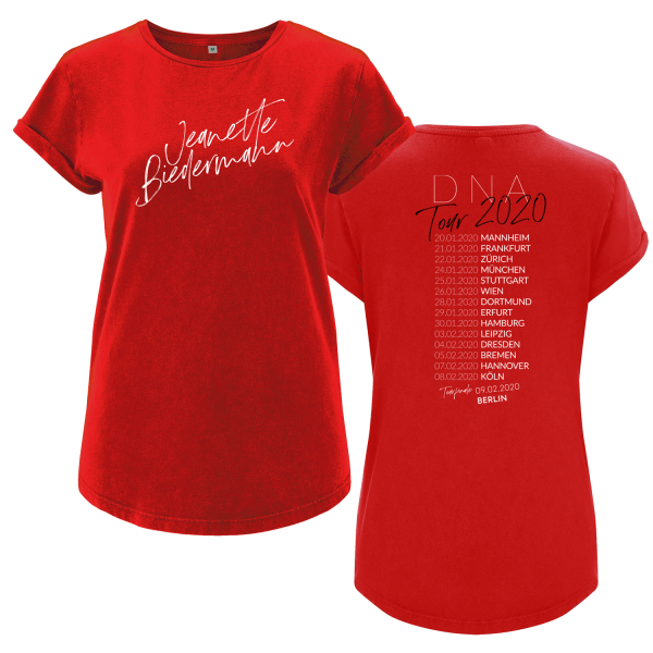 Jeanette Biedermann - Girlie Shirt - DNA Tour 2020 Tourshirt (rot)